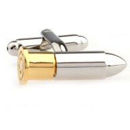Gold And Silver Bullet Cufflinks