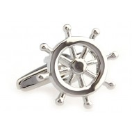 Silver Steering Wheel Cufflinks