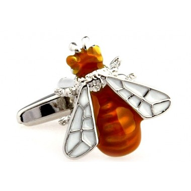 Brown Bee Cufflinks