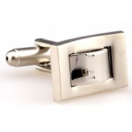 Silver Rectangle Metal Cufflinks