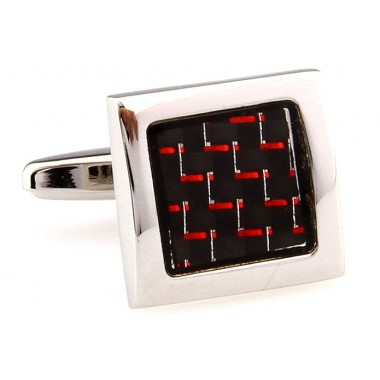 Ruby Square Onyx Cufflinks