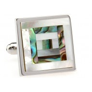 Multi-Colored Mother Of Pearl Cufflinks