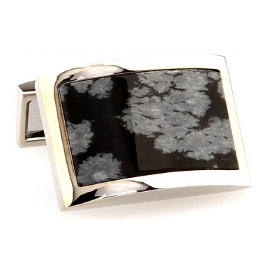 Black And Gray Pattern Cufflinks