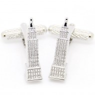 Silver Tower Cufflinks