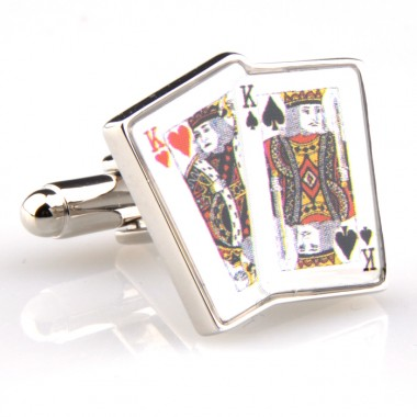 Playing Cards King Cufflinks