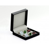 Black Hardcover Cufflink Box
