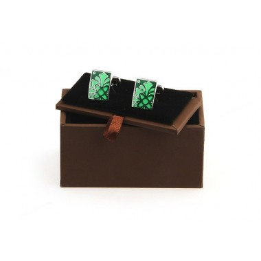 Brown Cufflink Box